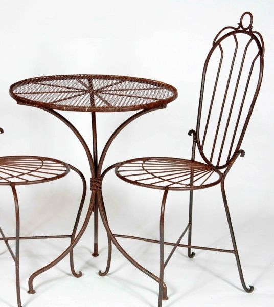 """wrought iron patio furniture 24"""" Round Wrought Iron Table - Patio Furniture for All"""