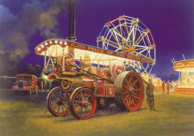 Showmans Traction Engine Steam Fair Carnival Rides