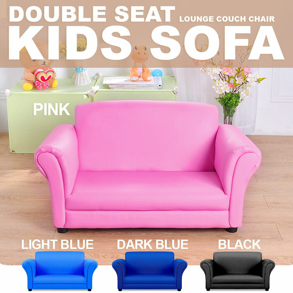 Double Kids Toddler Sofa Lounge Couch Chair Seat Brand New EBay