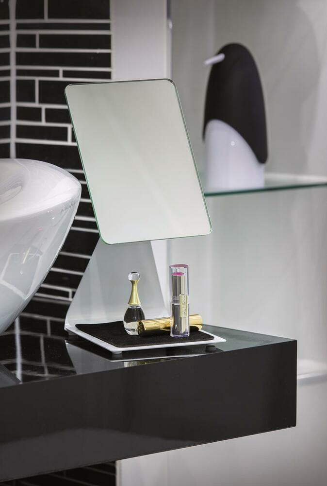 BC LARGE CHROME MODERN FREE STANDING PEDESTAL COSMETIC ...