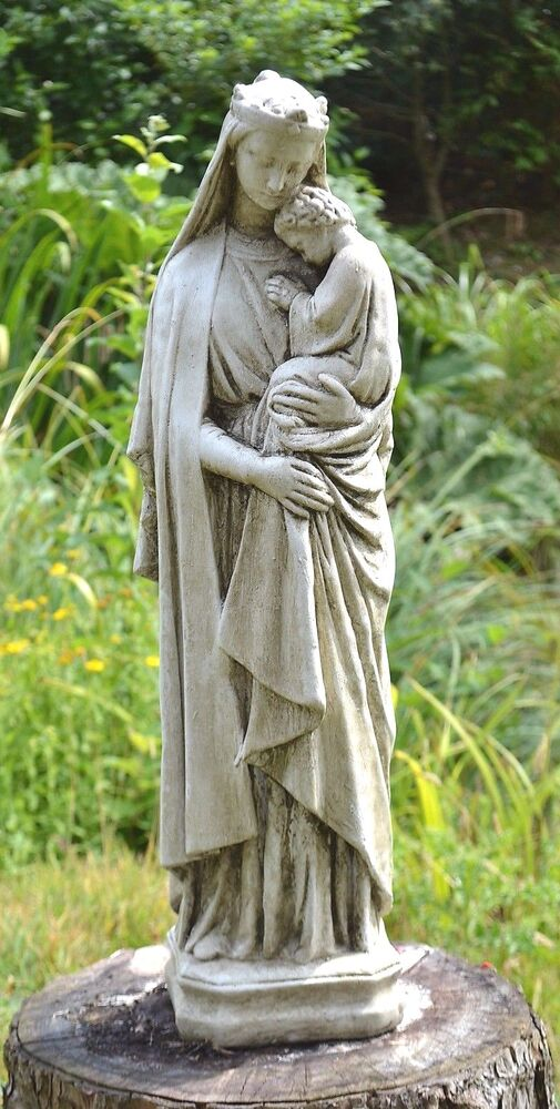Large Madonna And Child Religious Statue Stone Home Garden