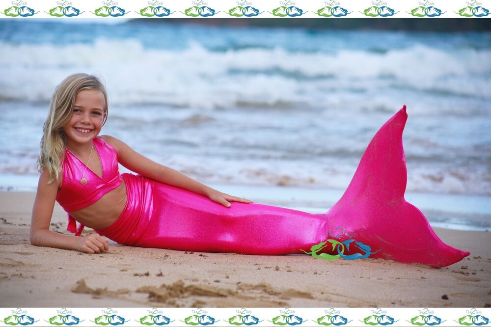 THE2TAILS Teen Sparkle Pink Swimmable Mermaid Tail Affordable With Fin EBay