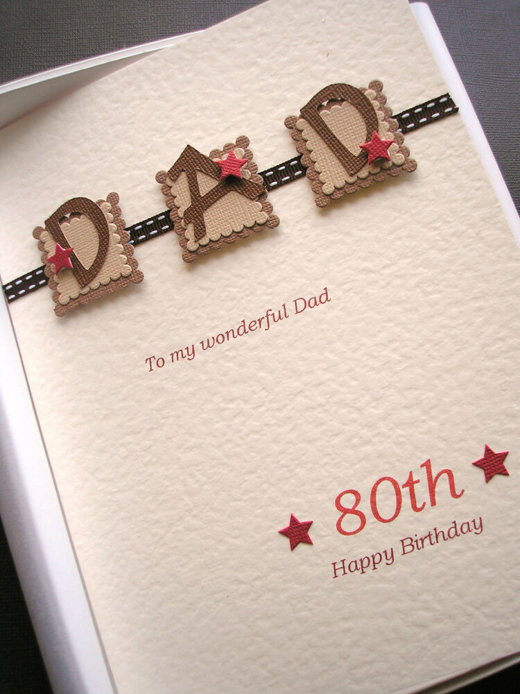 PERSONALISED 80th BIRTHDAY CARD FOR MEN DAD HUSBAND