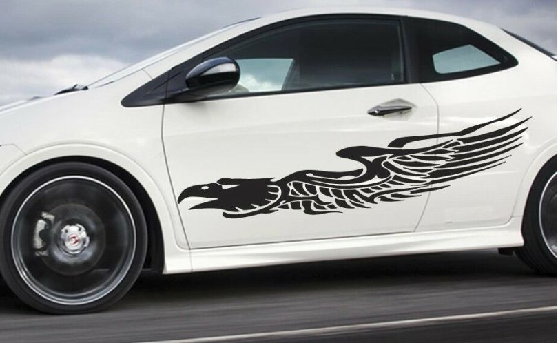 Universal Car pinstripe Racing side graphics decals 56  x 11   Eagle     Universal Car pinstripe Racing side graphics decals 56  x 11   Eagle  Flames    eBay