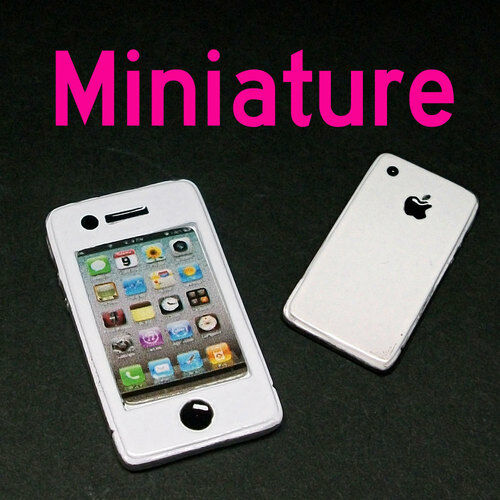Dollhouse Miniature IPhone Look Mobile Phone Decorate B