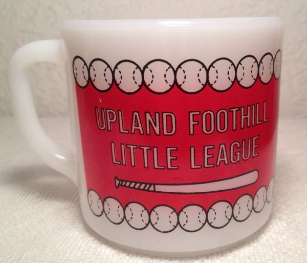 Vintage Federal Milk Glass Upland Foothill Little League ...