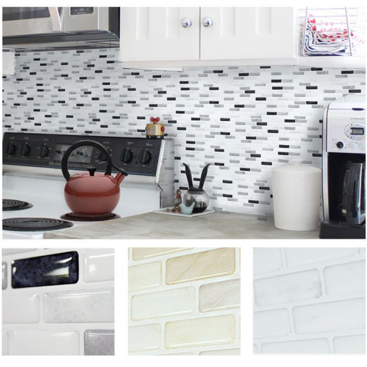 Mosaic Kitchen Bathroom Foil Beauty Sticker Tile