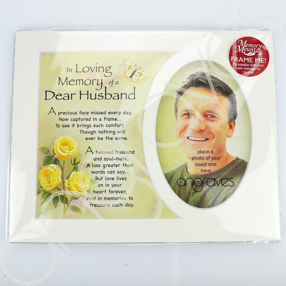 In Loving Memory Of A Special Husband Photo Frame Mount