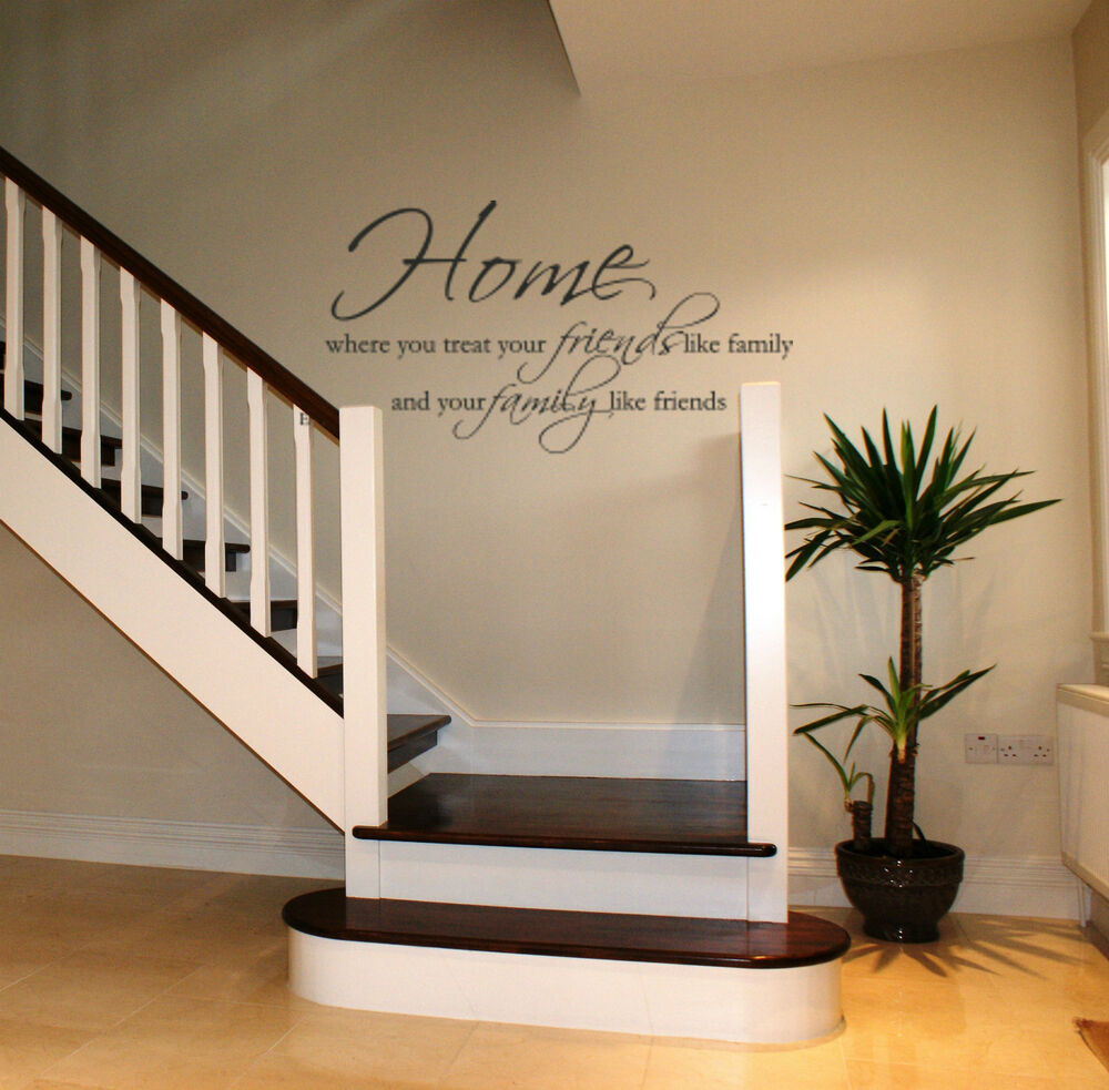 Home Wall art sticker lounge hallway living room dining ... on Room Decor Stickers id=56666