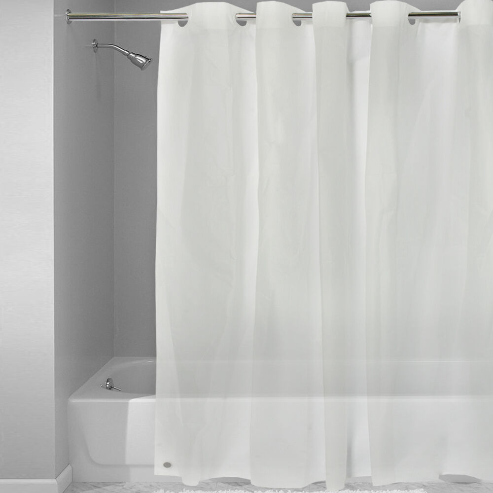 EZ On Frosted Clear EVA Plastic 72 X 72 Hookless Shower CurtainLiner EBay