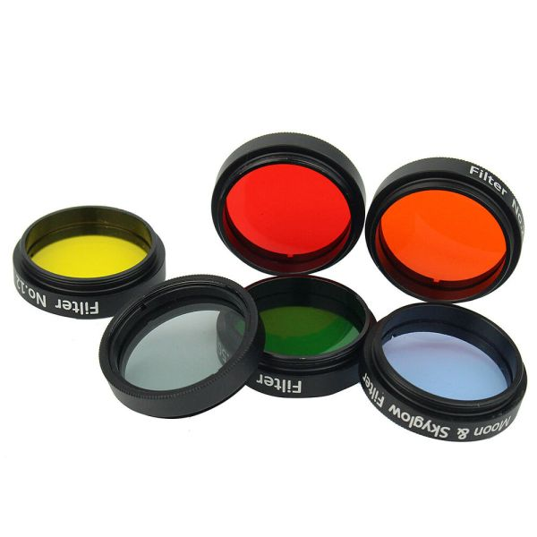 """1.25""""Colorful Telescope Eyepiece Filters Kit Set Case+Moon ..."""