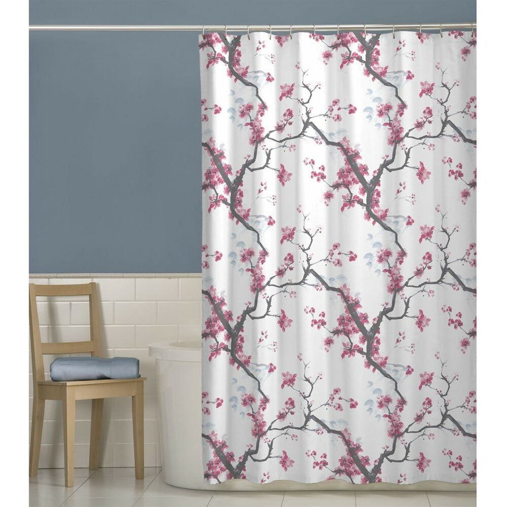 Maytex Cherrywood Fabric Shower Curtain 70 X 72 Inch Floral EBay