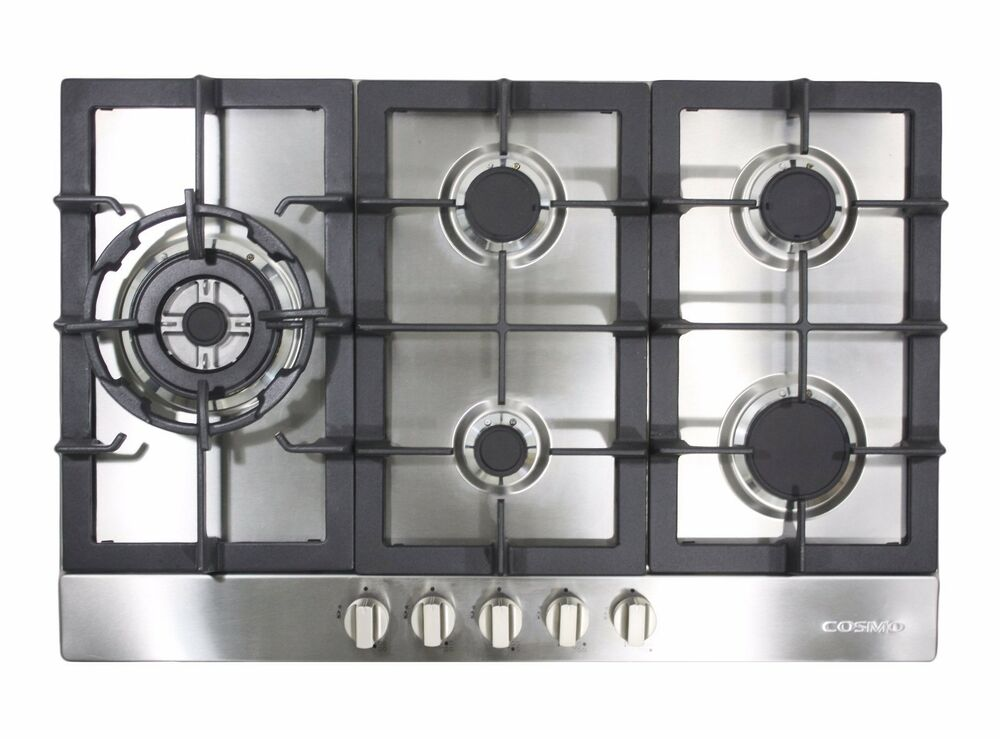 30 GAS COOKTOP STAINLESS STEEL W 5 BURNERS 850SLTX E