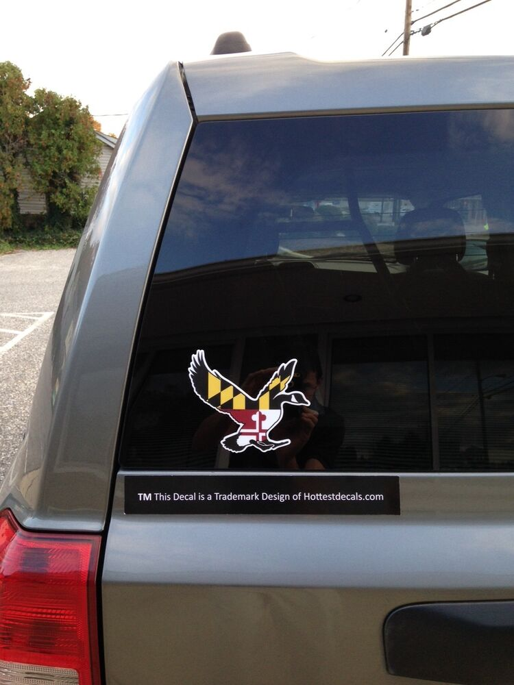 Maryland Goose Decal Sticker Truck Car Window Boat Waterfowl Canadian Geese Ebay