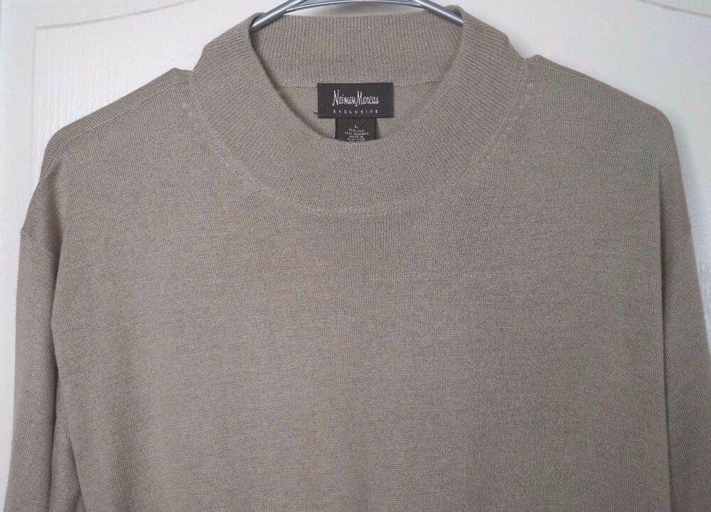 Men's Neiman Marcus Silk And Cashmere Sweater Size Large