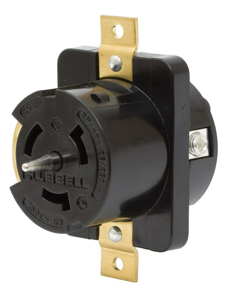 Cs L 50 Amp 125 250v Female Receptacle Hubbell