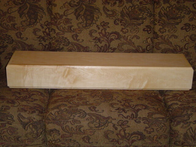 New Maple Contemporary Fireplace Mantel Mantle Shelf