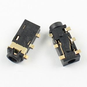 10Pcs 25mm Female Audio Connector 6 Pin SMT Stereo Phone