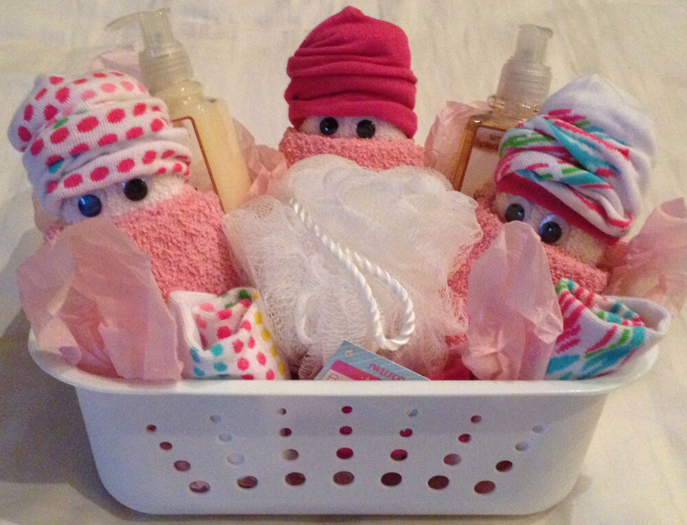 Washcloth Diaper Baby Gift Basket Shower Guest Party Favor