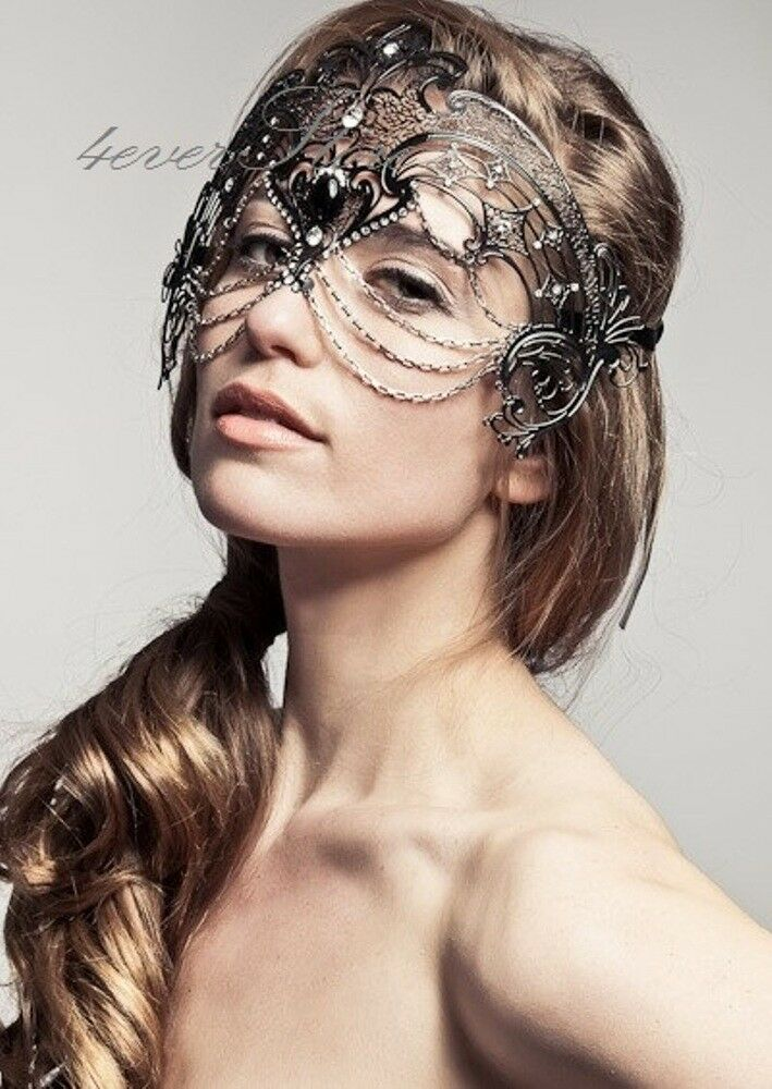 Luxury Filigree Collection Venetian Masquerade Mask W