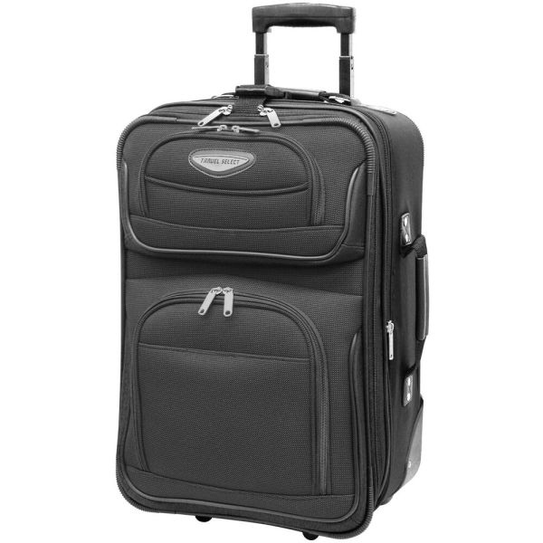 """Travel Select Gray Amsterdam Carry-on 21"""" Rolling Luggage ..."""