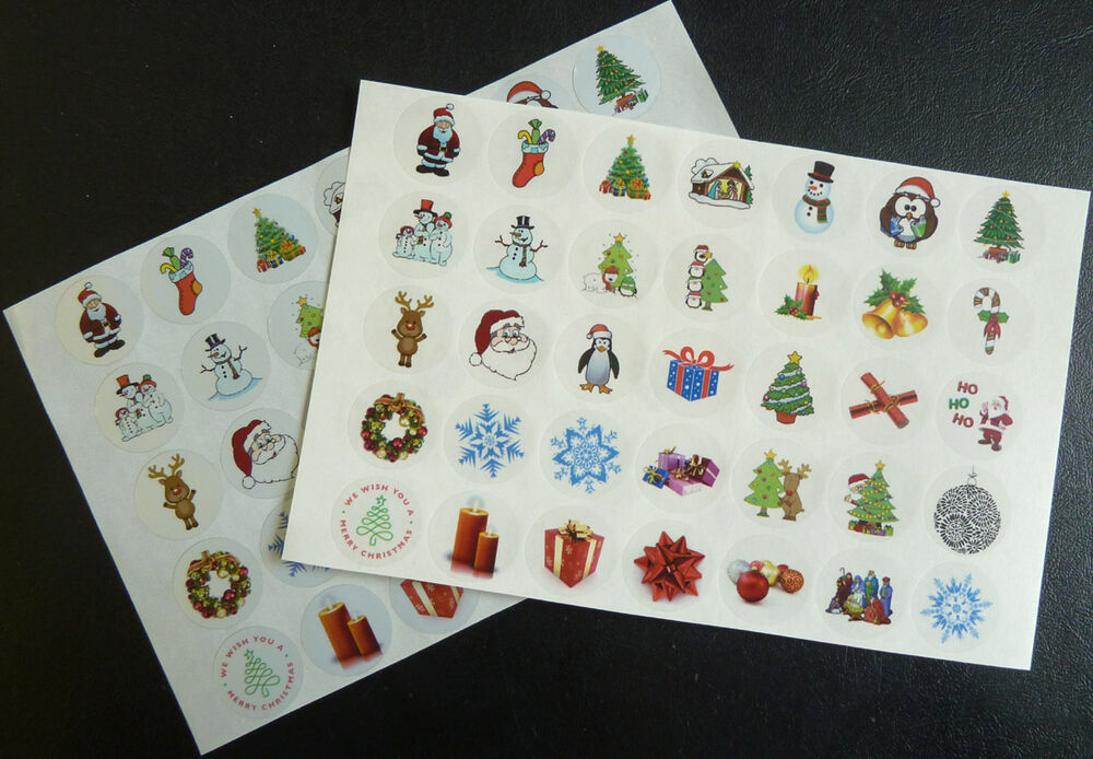 Christmas Amp Festive Stickers Labels Seals For Cards