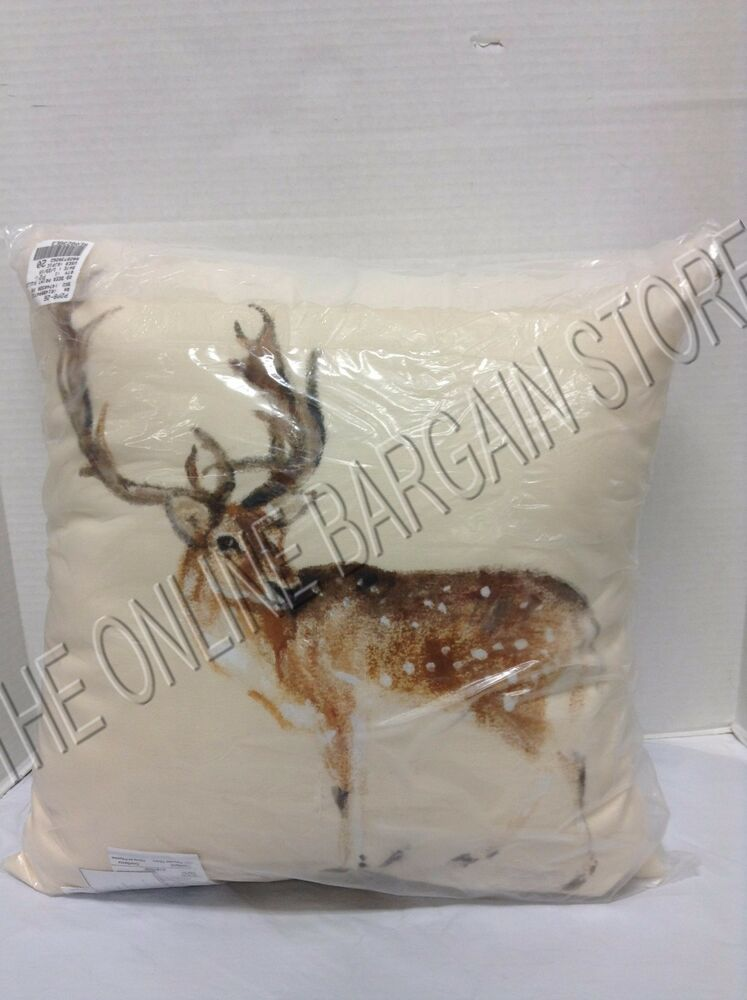 Pottery Barn Painted Deer Christmas Holiday Indoor Outdoor