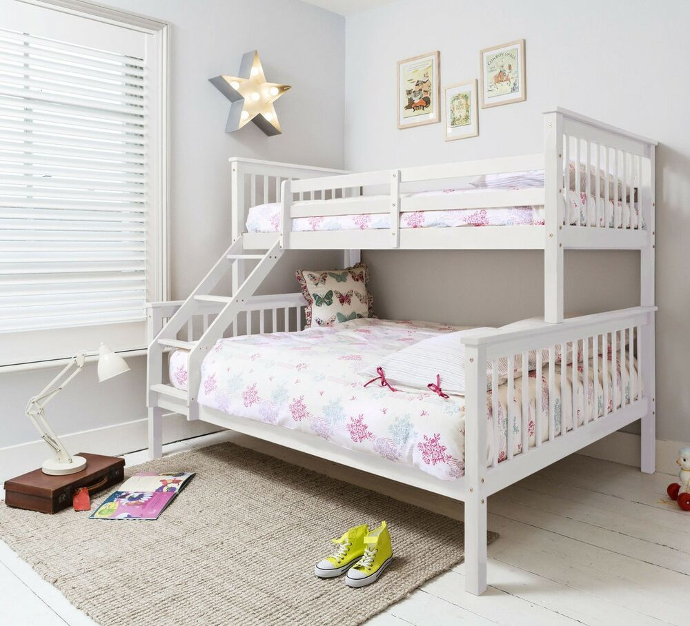 Triple Sleeper Bed Bunk Bed Double Bed In White Hanna EBay