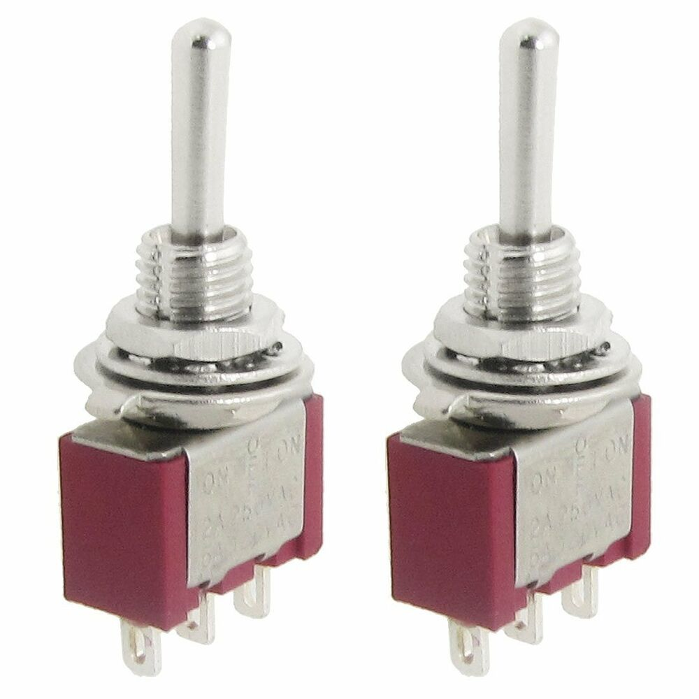 2 Pcs Ac Spdt On Off On 3 Position Momentary Toggle Switch