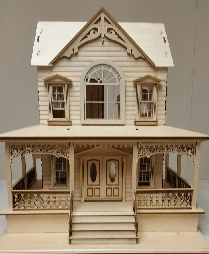 Little Briana Country Victrorian Cottage 124 Scale Dollhouse NO Shingles EBay