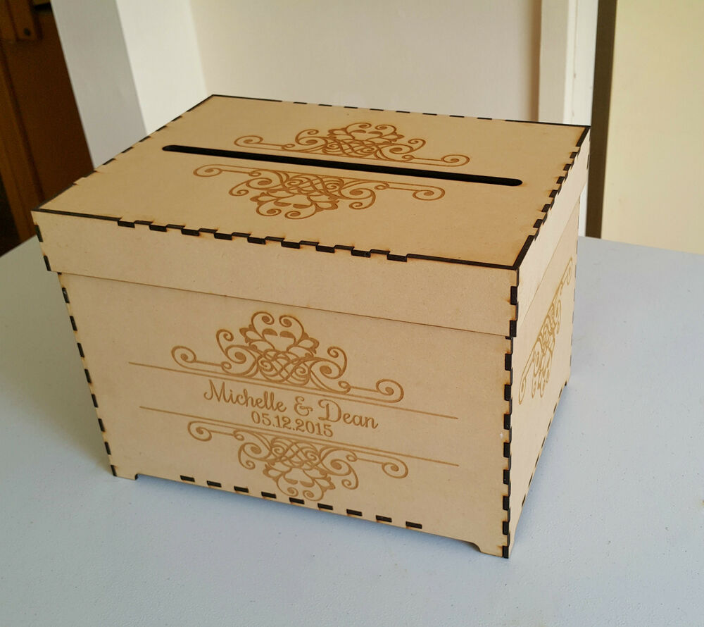 Rustic Wooden Wishing Well Personalised Engraved Card Box Wedding Engagement EBay