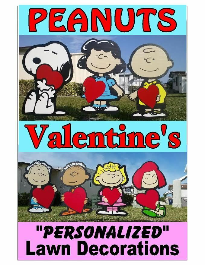 Peanuts Charlie Brown Valentines Day COMBO Yard And