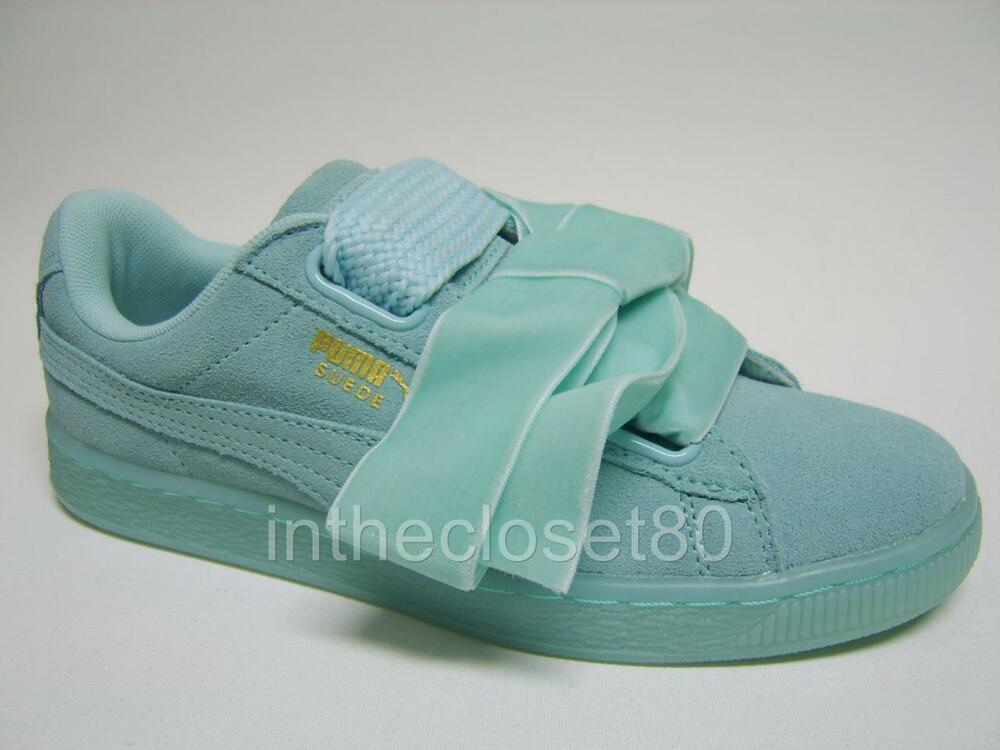 Puma Basket Heart Suede Leather Aruba Blue Turquoise