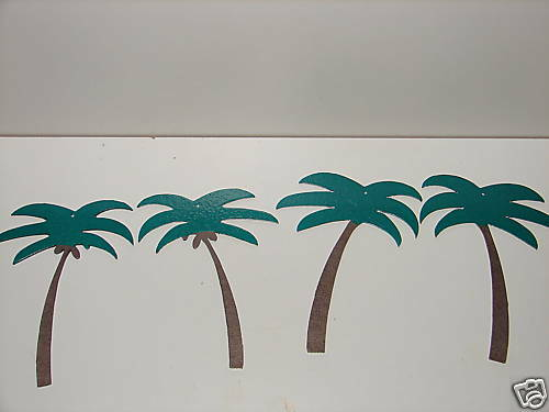 TROPICAL PALM TREE WALL DECOR HOT TUB, PATIO, YARD, SPA