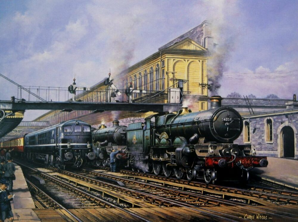 BEAUTIFUL PRINT PICTURE PAINTING STEAM TRAIN EXETER ST