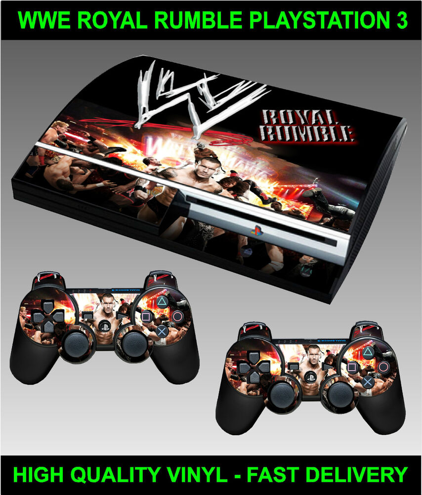 PLAYSTATION 3 CONSOLE STICKER WWE ROYAL RUMBLE STYLE SKIN