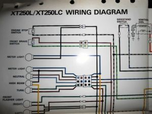 Yamaha OEM Factory Color Wiring Diagram Schematic 1984 XT250L XT250LC | eBay