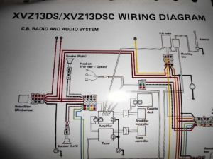 Yamaha OEM Factory Color Wiring Diagram Schematic 1986 XVZ13DS XVZ13DSC CB Radio | eBay