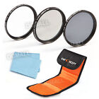 58mm UV CPL ND4 ND Neutral Density Polarizer Lens Filter Kit Set For Nikon Canon