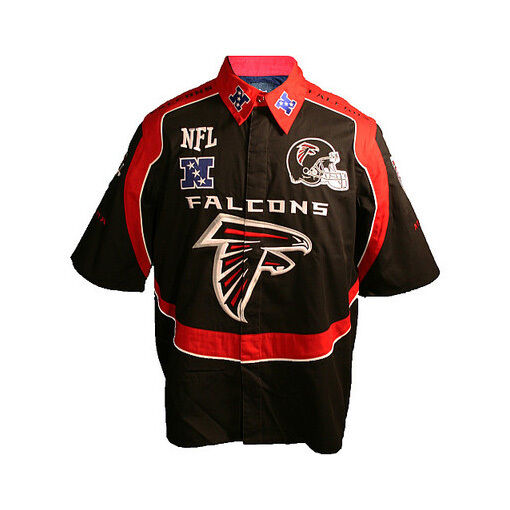 NFL Football Men's Atlanta Falcons Logo Button Down ...