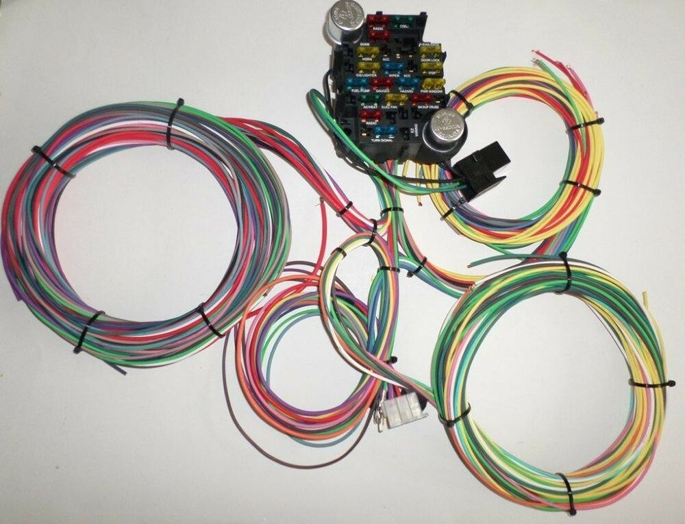 21 Circuit Ez Wiring Harness Chevy Mopar Ford Hotrods