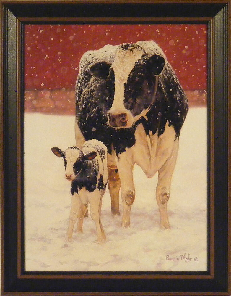FIRST CHRISTMAS By Bonnie Mohr FRAMED PRINT PICTURE 15x19