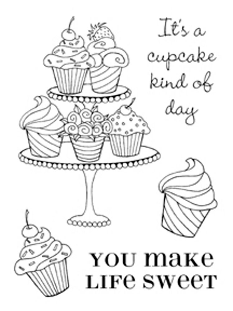Cupcakes Make Life Sweet Clear Unmounted Stamps Set