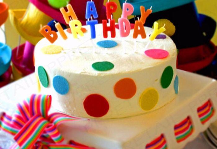 13pc Happy Birthday Cake Candle Set Coloured Letters Decoration