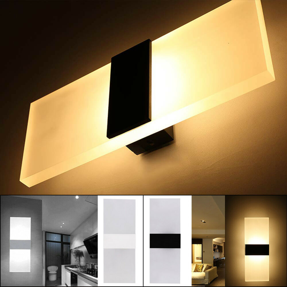 Modern Acrylic LED Wall Sconces Bedside Lamp Fixture Home ... on Led Sconce Lighting id=29130