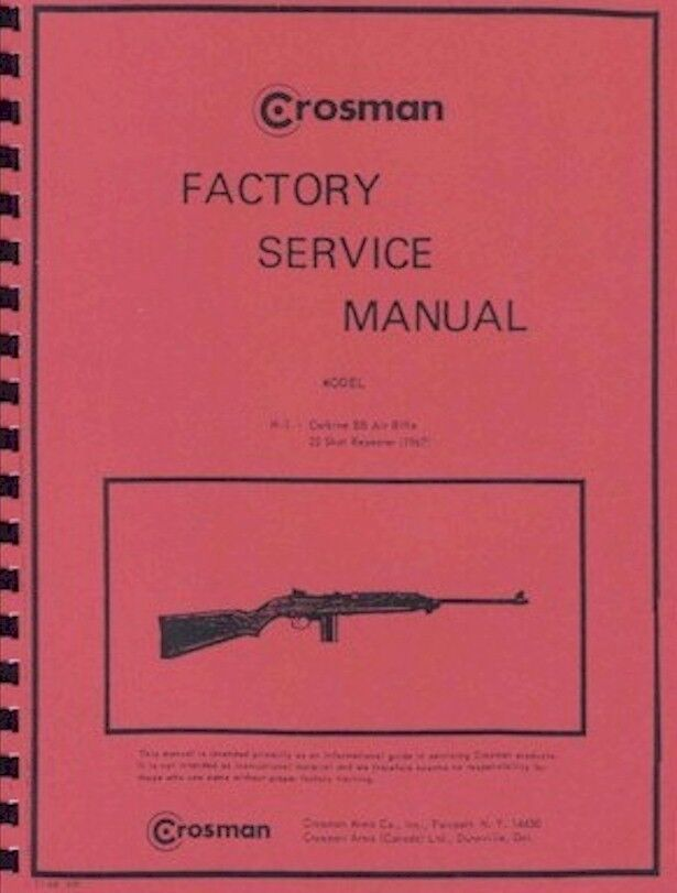 Crosman M 1 Carbine Bb Gun Factory Service Manual M1