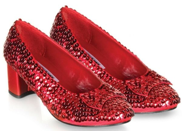 Dorothy Slippers Red Sequin Wizard of Oz Shoes 5 6 8 10 | eBay