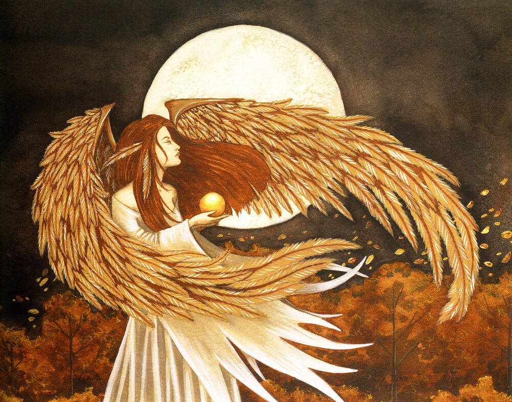 Amy Brown LUNA Limited Edition Print Moon Feather Angel Wings Fairy Faery Signed EBay