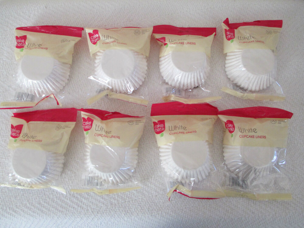 Lot Of 400 Plain White Cupcake Liners Standard Size New