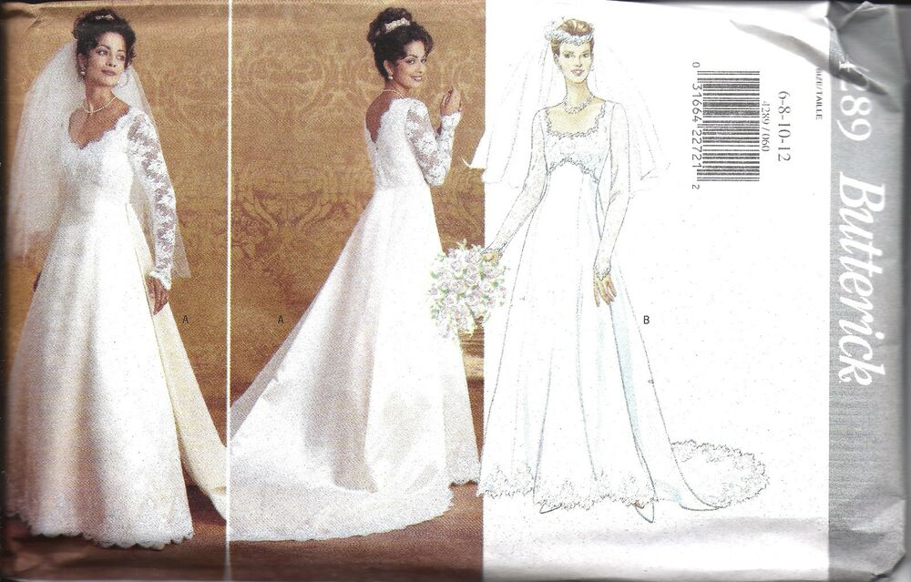 UNCUT Vintage Butterick Sewing Pattern Wedding Bridal Gown